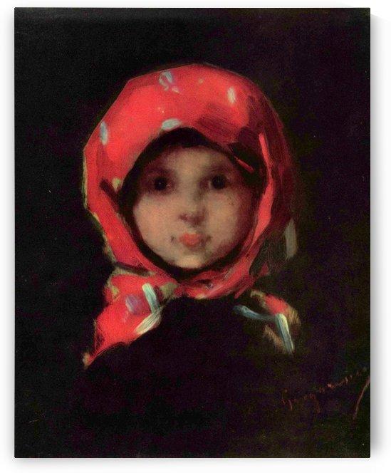 Portrait of a little girl by Nicolae Grigorescu