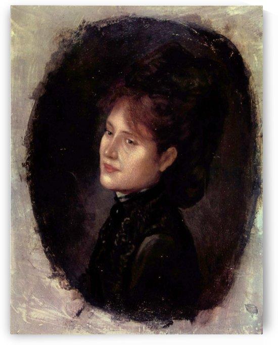 Portrait of Lady Alexianu by Nicolae Grigorescu
