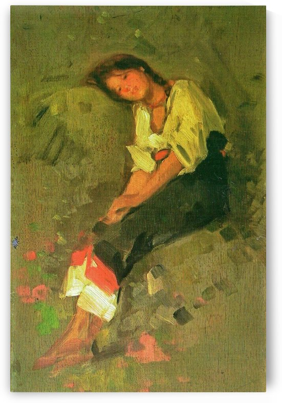 Portrait of a young beauty by Nicolae Grigorescu