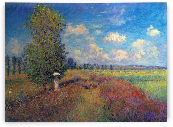 Poppy Field in Summer by Monet by Monet