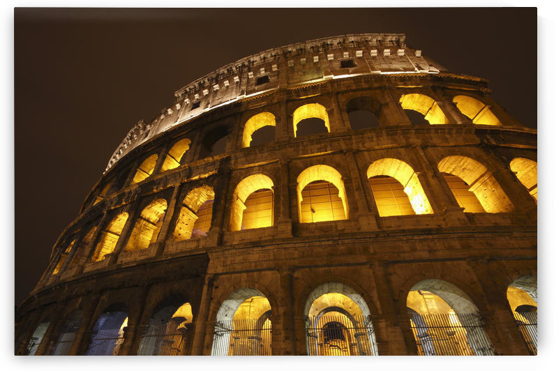 Night Lights Of The Colosseum; Rome Lazio Italy by PacificStock