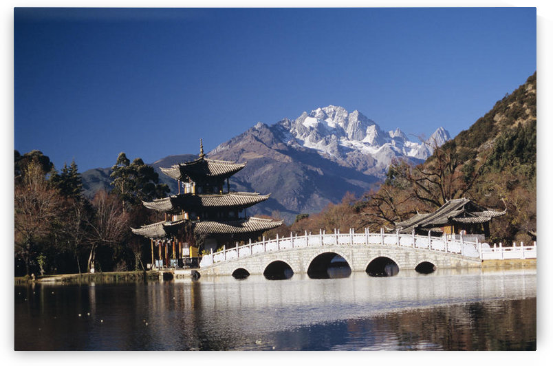 China, Black Dragon Pool Park with Five Phoenix Pavilion; Lijiang by PacificStock