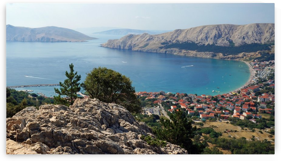 view of Baska, croatia by Babett-s Bildergalerie