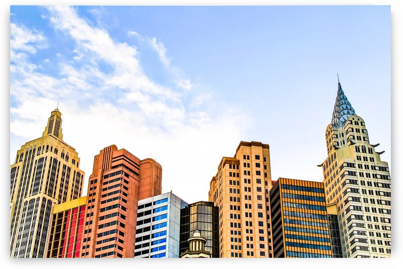buildings of the New York New York hotel at Las Vegas, USA by TimmyLA