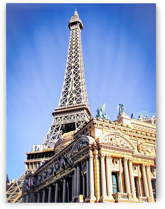 Eiffel tower at Las Vegas, USA with blue sky by TimmyLA