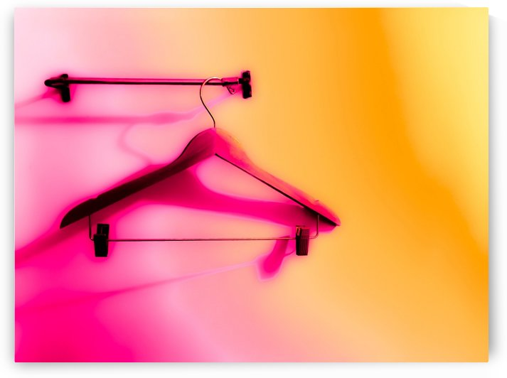 wood hanger with pink and orange wall background by TimmyLA