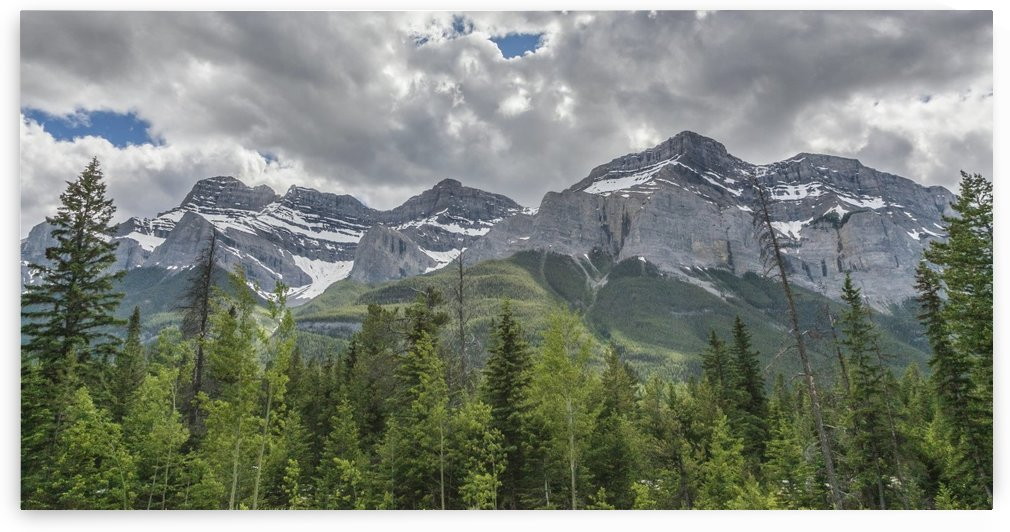 Rocky Peaks Near Canmore, Alberta by Palwall Photoart
