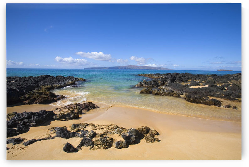 USA, Hawaii, Maui, Secret Beach of Kahoolawe and Molokini Islands; Makena by PacificStock
