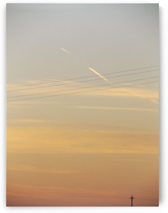 Italian Sunshine - Light pole - Roman sky at sunset - The Roman landscape, Rome, Italy, photography by Alessandro Nesci