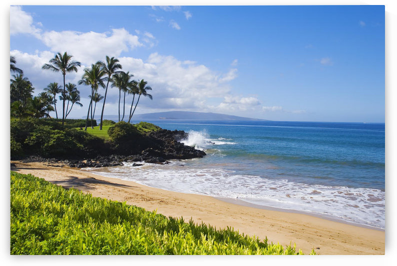 Hawaii, Maui, Wailea, Beautiful Ulua Beach. by PacificStock