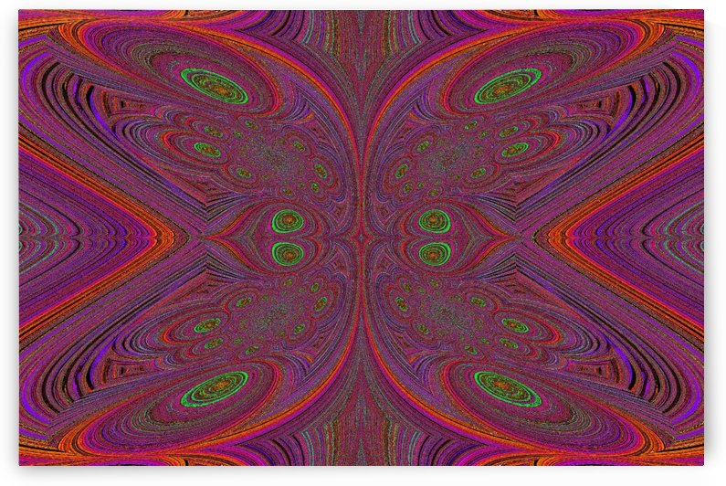 Digital Butterfly Purple Orange  by Sherrie Larch
