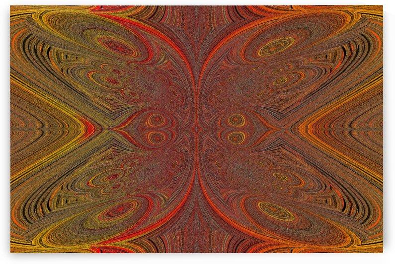 Digital Butterfly Orange Yellow  by Sherrie Larch