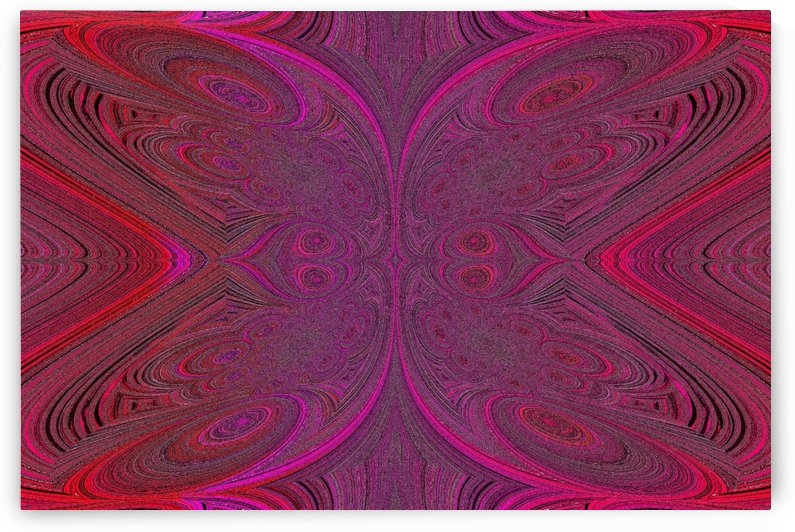 Digital Butterfly Pink Red  by Sherrie Larch