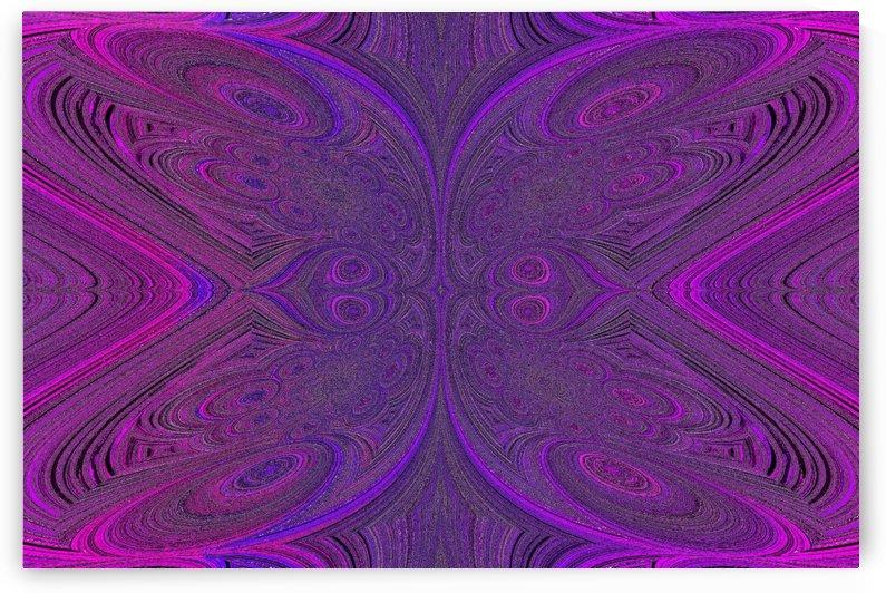 Digital Butterfly Purple Pink  by Sherrie Larch