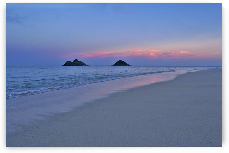Hawaii, Oahu, Lanikai, Early Morning With The Mokolua Islands In The Distance. by PacificStock