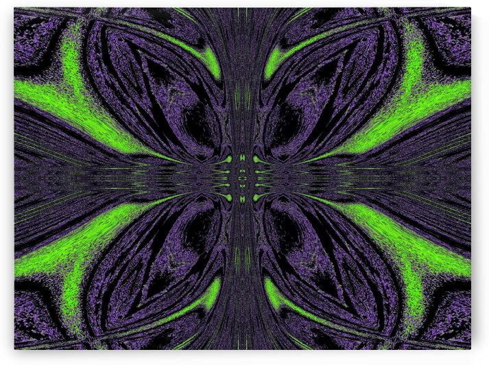Green Butterfly 6 by Sherrie Larch