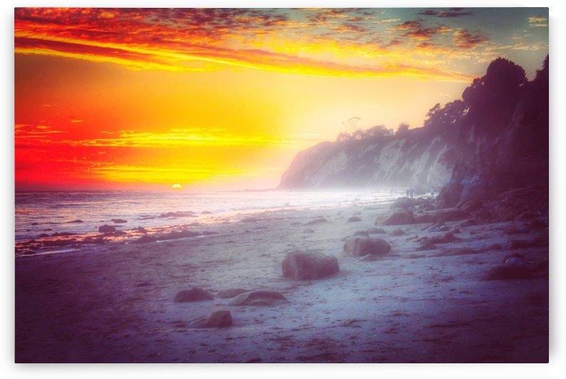 California summer beach sunset with beautiful cloudy sky by TimmyLA