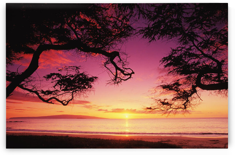 Hawaii, Maui, Sunset At Palauea Beach by PacificStock