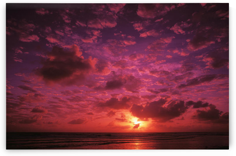 Kiribati, Kiritimati (Christmas Island), Colorful Sunset Over The Ocean by PacificStock
