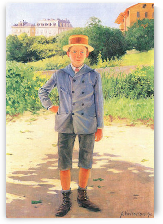 Portrait of a young Delisle by Felix Vallotton by Felix Vallotton