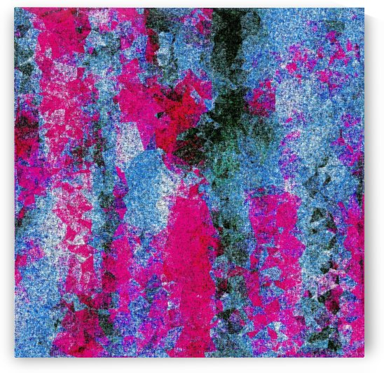 vintage psychedelic painting texture abstract in pink and blue with noise and grain by TimmyLA