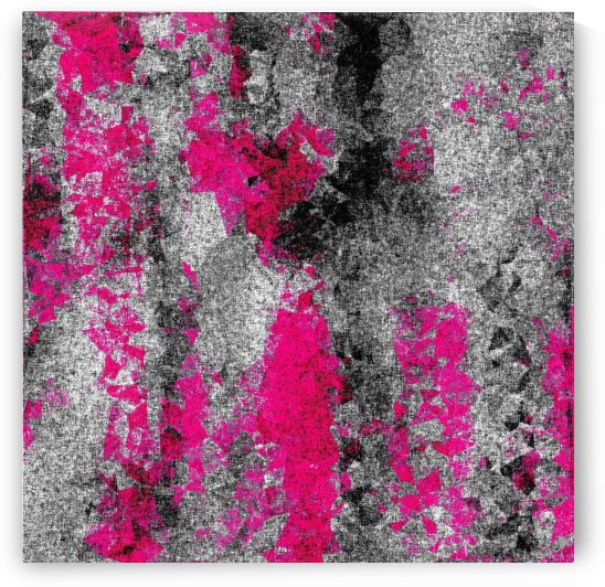 vintage psychedelic painting texture abstract in pink and black with noise and grain by TimmyLA