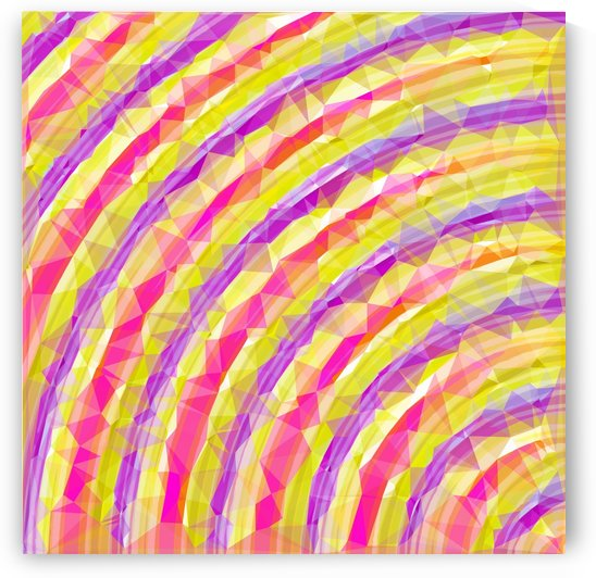 psychedelic geometric polygon line pattern in pink purple yellow by TimmyLA