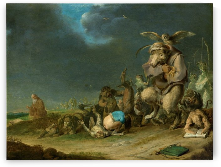 Temptation of Saint Anthony, 1629 by Cornelis Saftleven