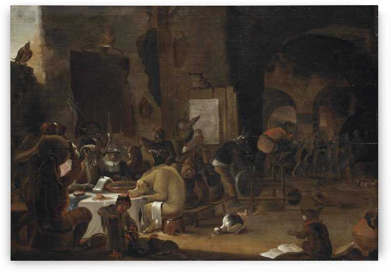 A sorcery scene by Cornelis Saftleven