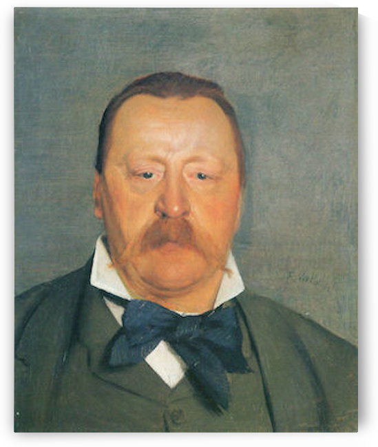 Portrait of Alfred Delisle by Felix Vallotton by Felix Vallotton
