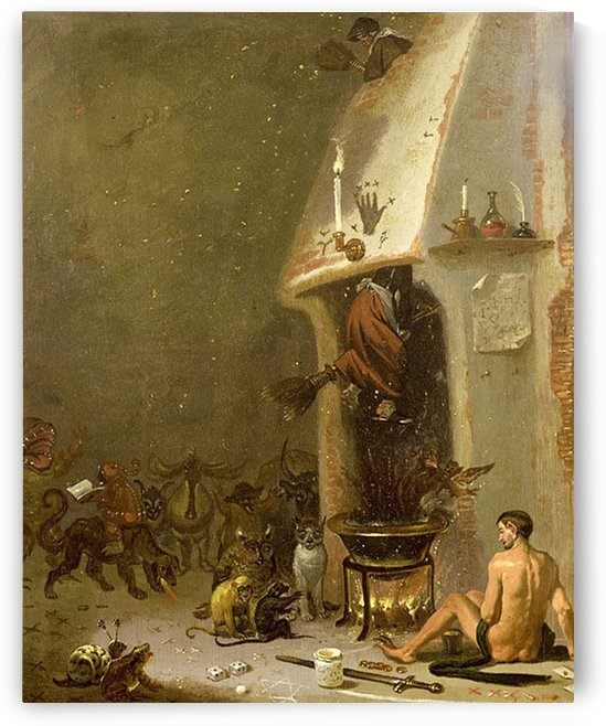 A witchs tavern, 1650 by Cornelis Saftleven