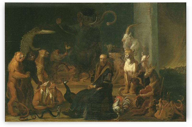 Parody of the conviction of Johan van Barneveld by Cornelis Saftleven