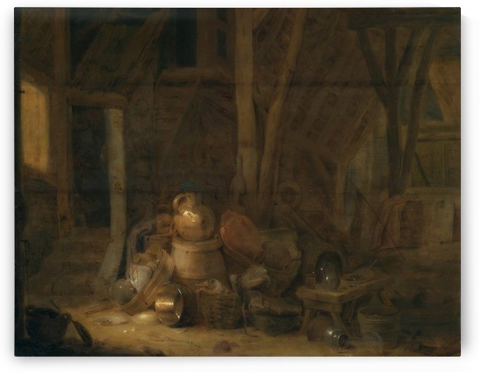 Barn interior, 1672 by Cornelis Saftleven