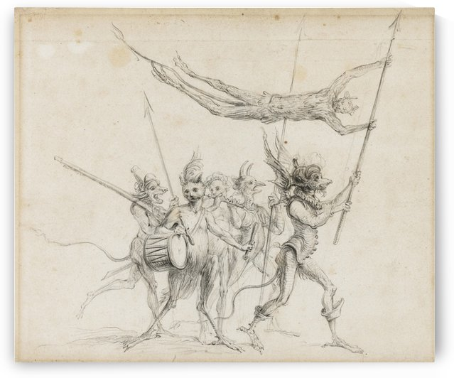A procession of diabolical creatures by Cornelis Saftleven