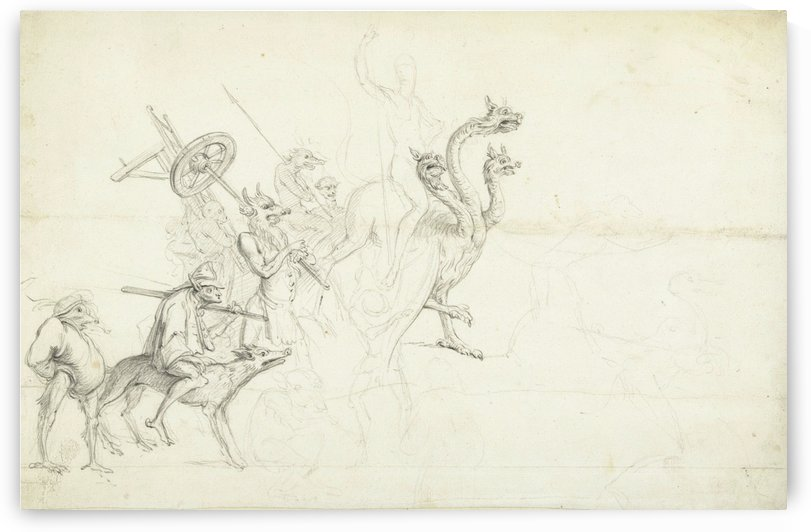 Group of mythical creatures by Cornelis Saftleven