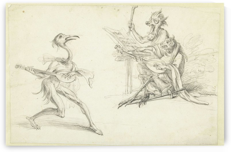 Three musician devils by Cornelis Saftleven