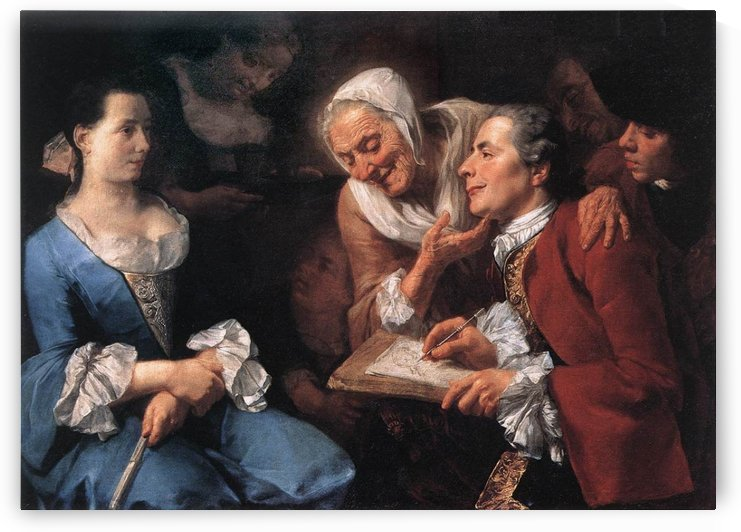 The sitting, 1754 by Gaspare Traversi