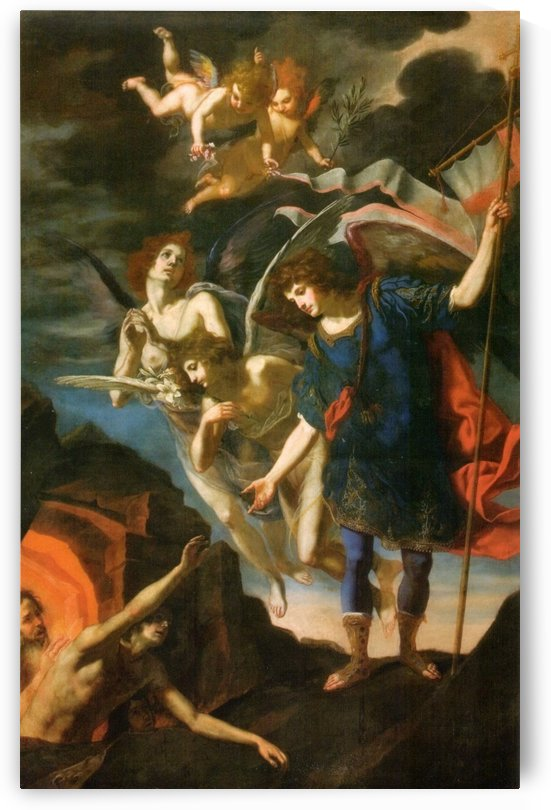 Saint Michael the Archangel releases souls from purgatory by Jacopo Vignali