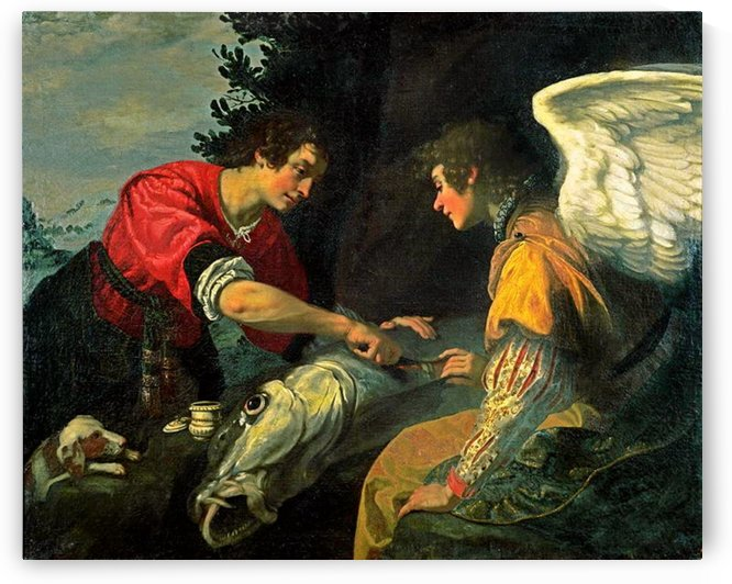 Tobias and the Archangel Raphael by Jacopo Vignali