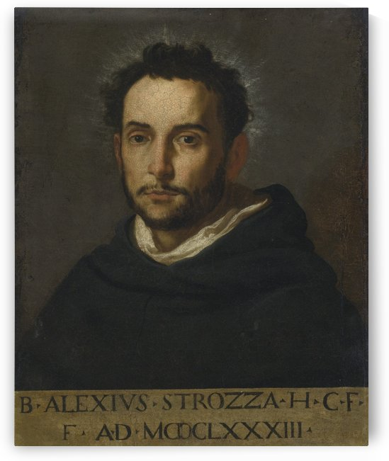 Portrait of Alessandro Strozzi, called Beato Alessio by Jacopo Vignali