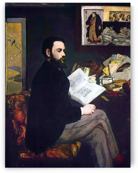 Portrait of Emile Zola by Manet by Manet