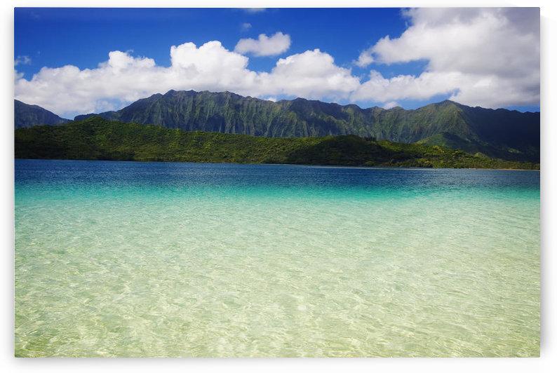 Hawaii, Oahu, Kaneohe Bay And Windward Coast As Seen From The Sandbar by PacificStock