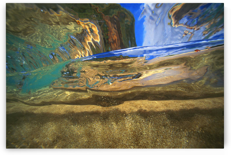 Hawaii, Abstract Underwater View Of Breaking Wave by PacificStock