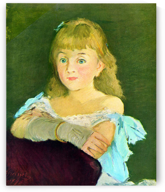 Portrait of Lina Campineanu by Manet by Manet