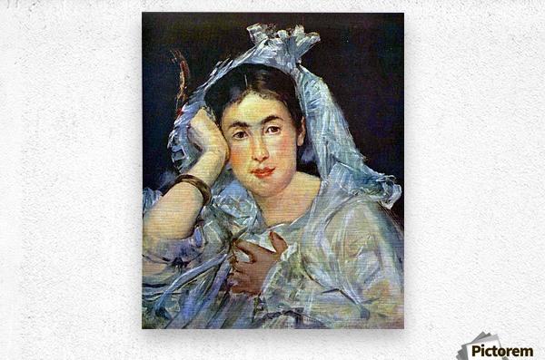 Portrait of Marguerite de Conflans by Manet  Metal print