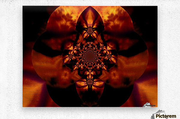 Fire Orchid 1  Metal print