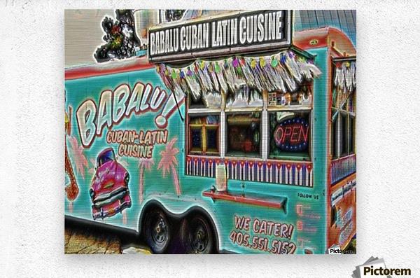 food truck one- okc  Metal print