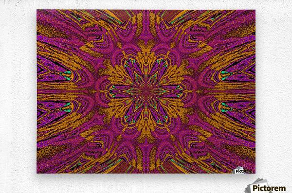 Pink Orange Jasmine  Metal print