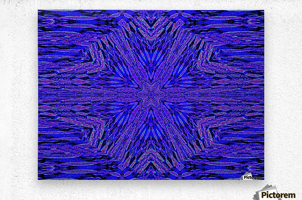 Blue Carnation  Metal print