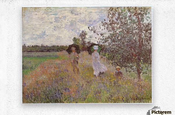 Promenade a Argenteuil 1875 by Monet  Metal print